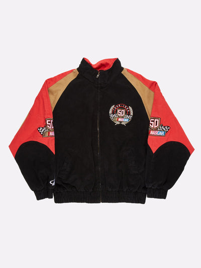 Nascar 50th Anniversay Jacket Black/Red/Brown Size 2XL
