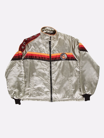 Buick Indianapolis Racing Bomber Jacket Grey/Orange/Red Size Large