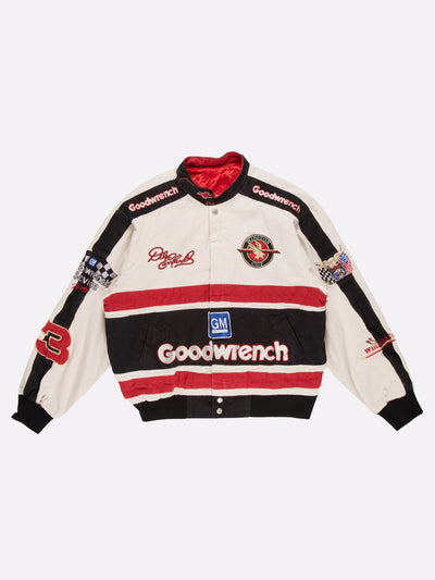 Nascar Winston Cup Jacket White/Red/Black Size Large