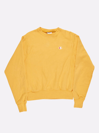 Champion Reverse Weave Sweatshirt Yellow Size XS