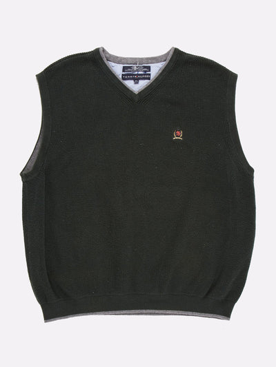 Tommy Hilfiger Sweater Vest Green/Grey Size XL