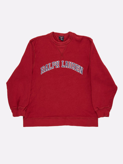 Ralph Lauren Sweatshirt Red/Navy Size Medium