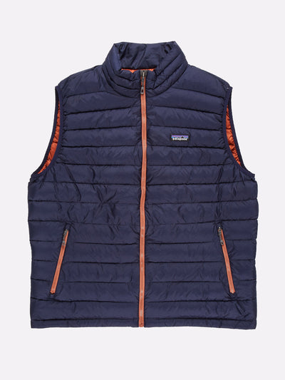 Patagonia Padded Gilet Navy/Orange Size XL