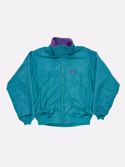 Patagonia Fleece Lined Jacket Blue/Purple Size Medium