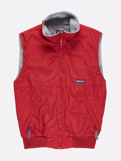 Patagonia Fleece Lined Gilet Red/Grey Size XS