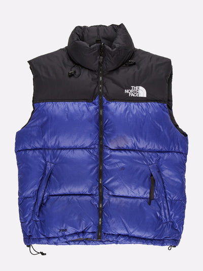 The North Face 700 Gilet Blue/Black Size Large