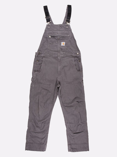 Carhartt Worker Dungarees Grey/Black Size 36x30