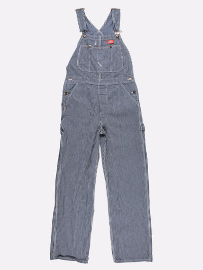 Dickies Pinstripe Dungarees Blue/White Size 32x32