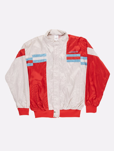 Vintage Adidas Windbreaker Beige/Red/Blue Size Large