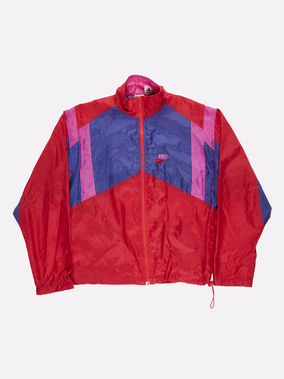 Nike Windbreaker Blue/Red/Pink Size Medium