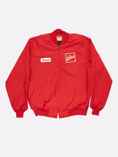 Coca-Cola Bomber Jacket with Embroidery Detail Red/White Size Large