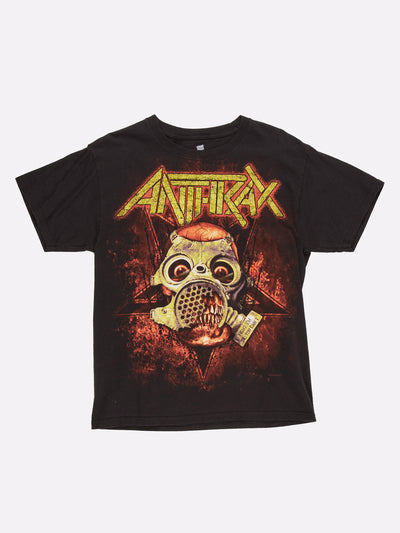 Anthrax Fight 'Em 'Til You Can't Tour T-Shirt Black/Orange/Yellow Size Medium