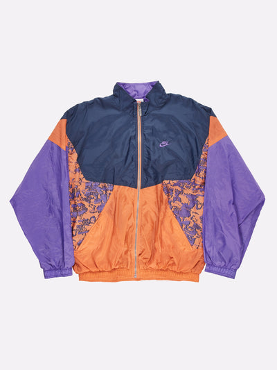 Nike Pattern Shell Jacket Purple/Orange/Navy Size XL