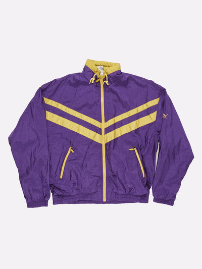 Puma Shell Jacket Purple/Yellow Size XL