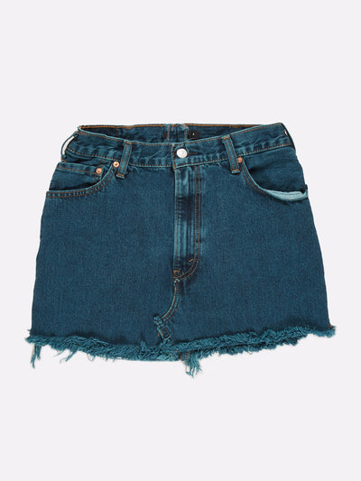 Levi's Overdyed Denim Skirt Blue