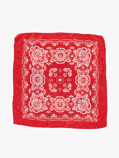 Floral Bandana Red/White One Size