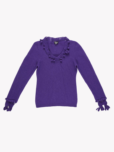D&G Knit Jumper Purple Size XS
