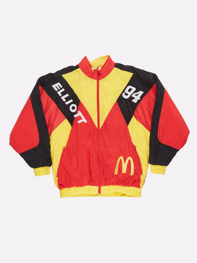 Nascar McDonalds Racing Jacket Red/Yellow/Black Size Large