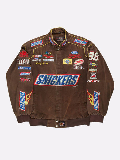 Nascar Snickers Jacket Brown/Red/Yellow Size Large