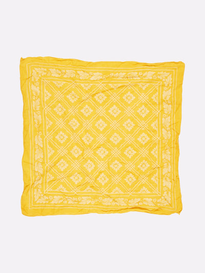 Bandana Yellow/White One Size