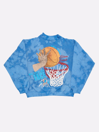 New York Basketball Tie-Dye Sweatshirt Blue/Orange Size Medium