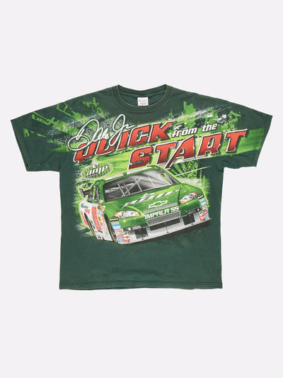 Dale Jr Nascar T-Shirt Green/Red/White Size XL