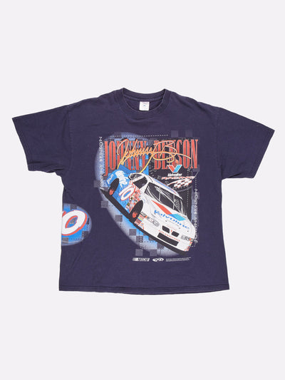 Johnny B Nascar Racing T-Shirt Blue/Red/White Size XL