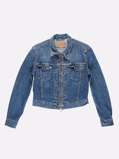Levi's Cropped Denim Jacket Blue Size Small