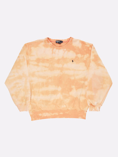 Ralph Lauren Bleach Effect Sweatshirt Yellow/White Size