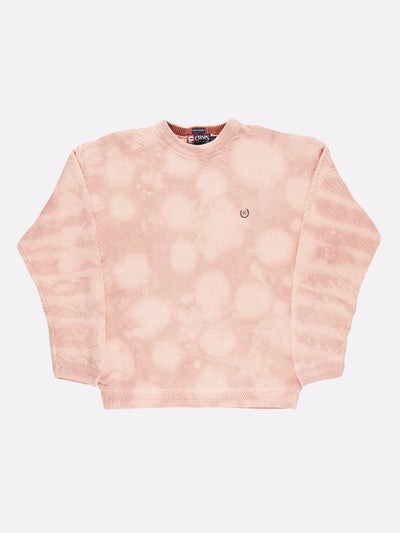 Ralph Lauren Bleach Effect Knit Jumper Pink Size Large