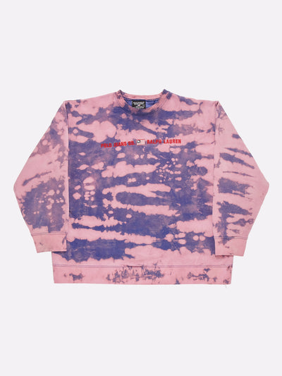 Ralph Lauren Bleach Effect Sweatshirt Purple/Pink Size Small
