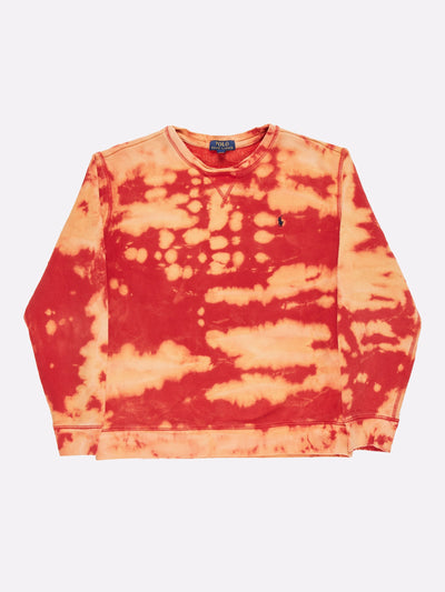 Ralph Lauren Bleach Effect Sweatshirt Red/Orange Size XL