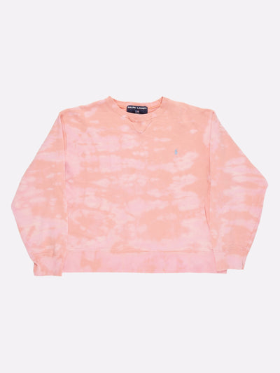 Ralph Lauren Bleach Effect Sweatshirt Pink Size Medium