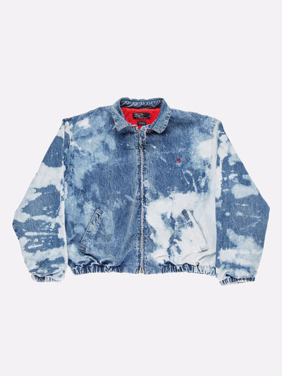 Ralph Lauren Bleach Effect Denim Jacket Blue Size Large