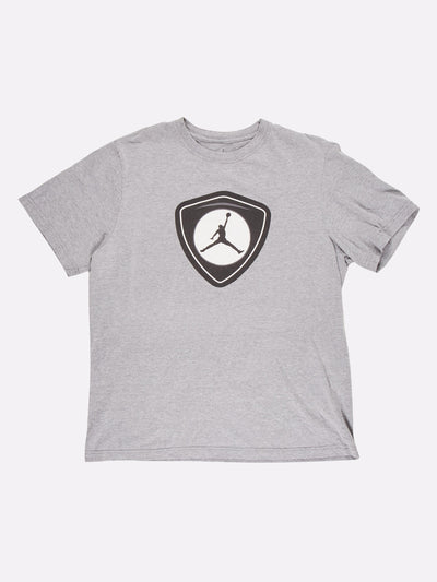 Nike Air Jordan T-Shirt Grey/White/Black Size XL