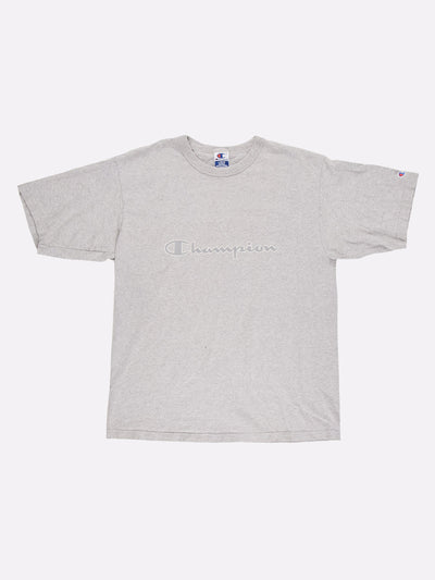 Champion T-Shirt Grey Size Large