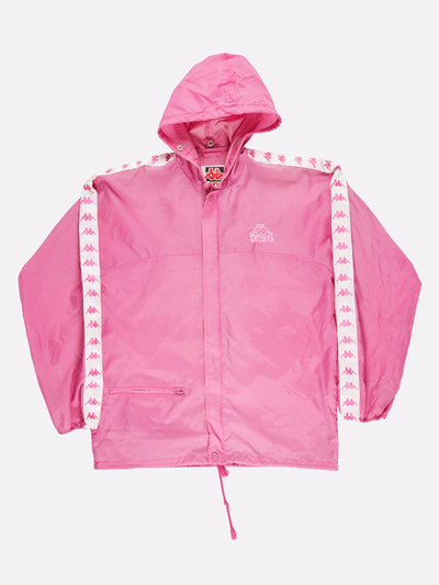 Kappa Windbreaker Pink/White Size Medium