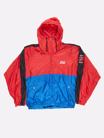 Ralph Lauren Polo Sport Windbreaker Red/Blue/Black Size XL