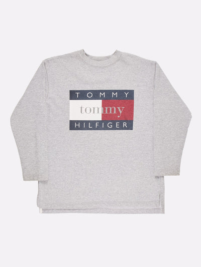 Tommy Hilfiger Sweatshirt Grey/Red/White Size Large