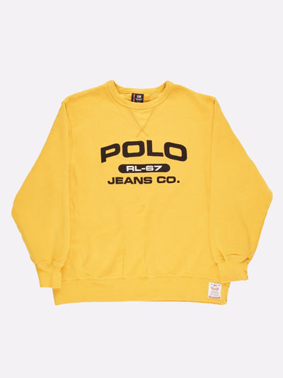 Ralph Lauren Polo Sweatshirt Yellow/Black Size XL