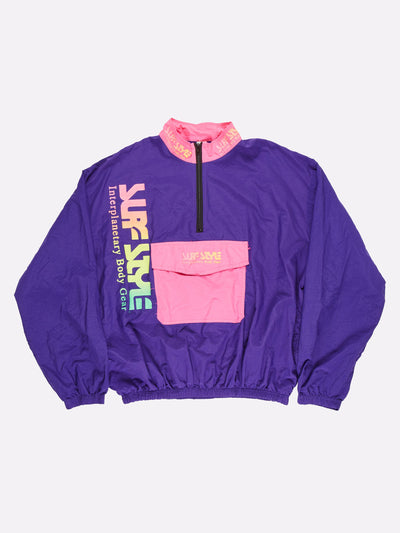 Surfstyle 1/4 Zip Windbreaker Purple/Pink/Yellow Size XXL