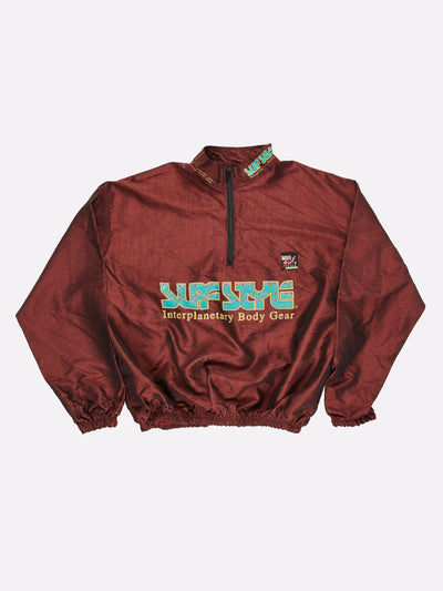 Surfstyle 1/4 Zip Windbreaker Iridescent Maroon/Green Size 2XL