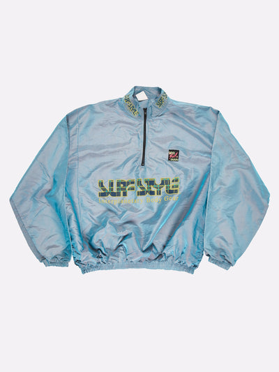 Surfstyle 1/4 Zip Windbreaker Iridescent Blue/Yellow Size 2XL