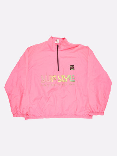 Surfstyle 1/4 Zip Windbreaker Pink/Yellow Size 2XL