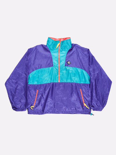 Woolrich 1/4 Zip Windbreaker Purple/Blue/Pink Size XL