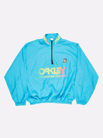 Surfstyle x Oakley 1/4 Zip Windbreaker Blue/Yellow Size 2XL