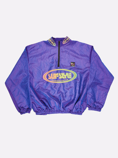 Surfstyle 1/4 Zip Windbreaker Iridescent Purple Size 2XL