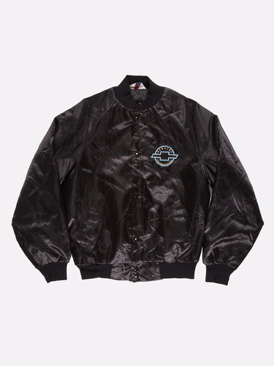Genuine Chevrolet Bomber Jacket Black/Blue/Gold Size Medium