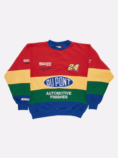 Nascar Du Point Sweatshirt Red/Yellow/Green Size Medium