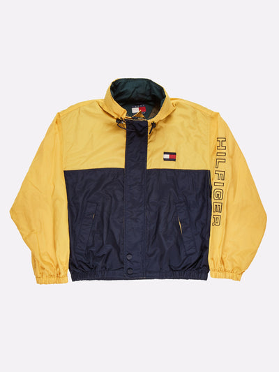 Tommy Hilfiger Jacket with Fold Away Hood Yellow/Navy Size XL